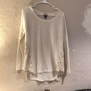 Tan lace shirt